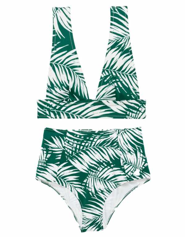 White and Green Patterned Bikini, H&M, Rs.2,798