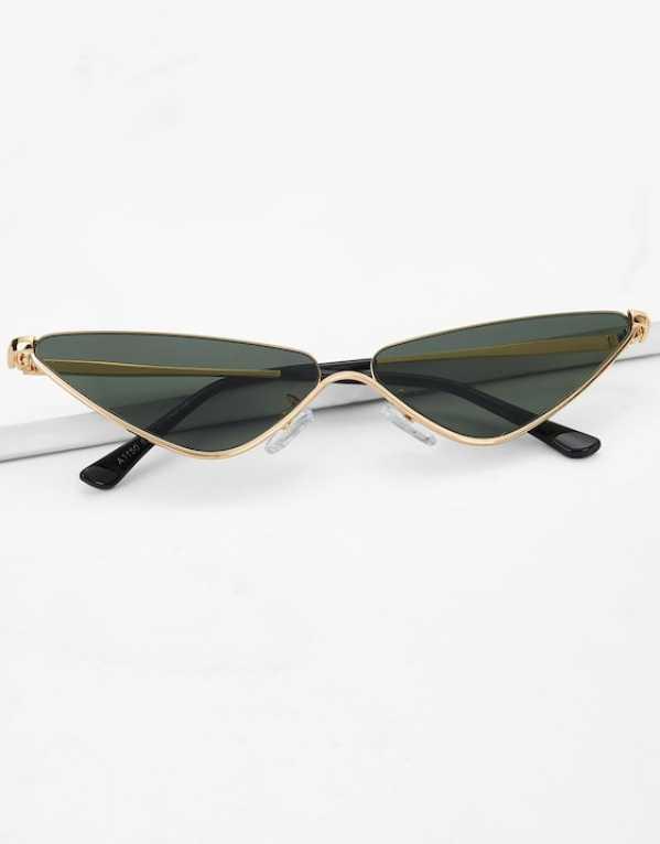 7. Metal Frame Cat Eye Glasses
