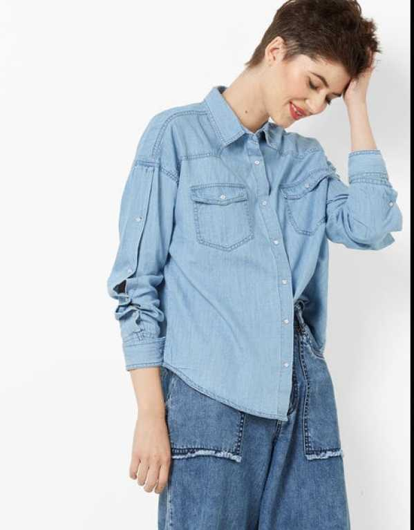 5 Denim Shirts Every College Girl Needs To Own in Her Wardrobe!