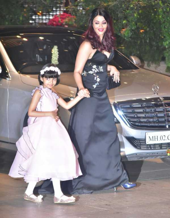 Aishwarya Rai Bachchan wearing a black gown by Osman