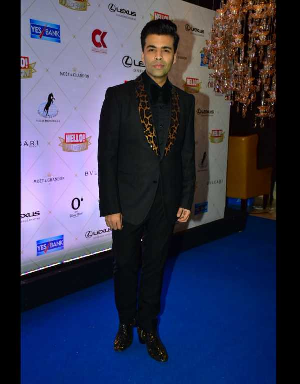 Its all in the details! Karan Johar in a Dolce & Gabbana suit and Christian Louboutin shoes