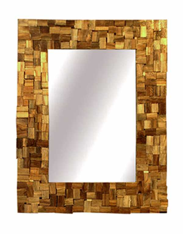 Teak Wood Wall Mirror, Divine Decor, Rs,8,499
