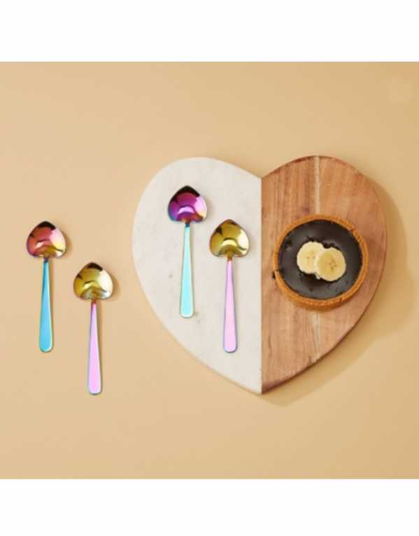 For the one who loves to entertain, a set of Iridescent Heart Spoons to top off a perfect meal and be the best host