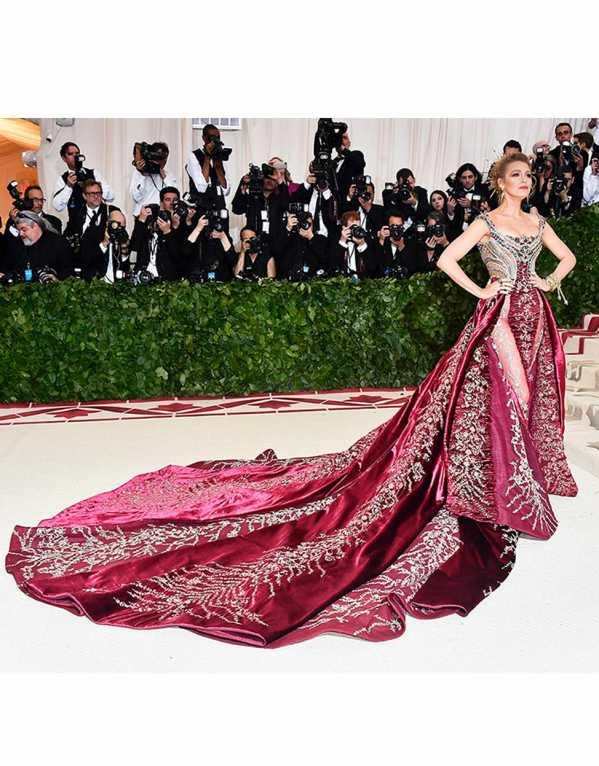 Blake Lively Wearing Atelier Versace