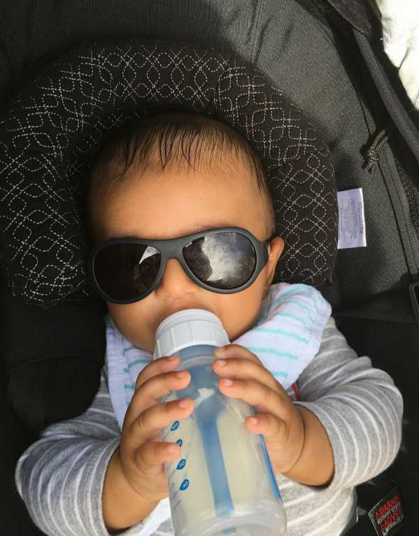A day out in the sun wearing his Babiators