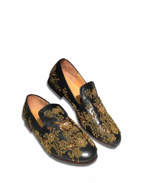 Zari Hand-Embroidered Shoes, Artimen; Rs.14,999