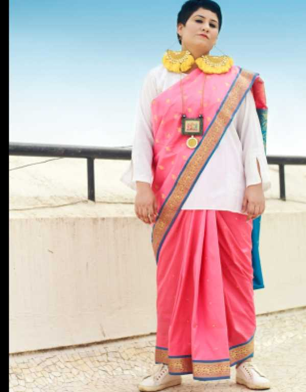 PINK SAREE WITH A TWIST