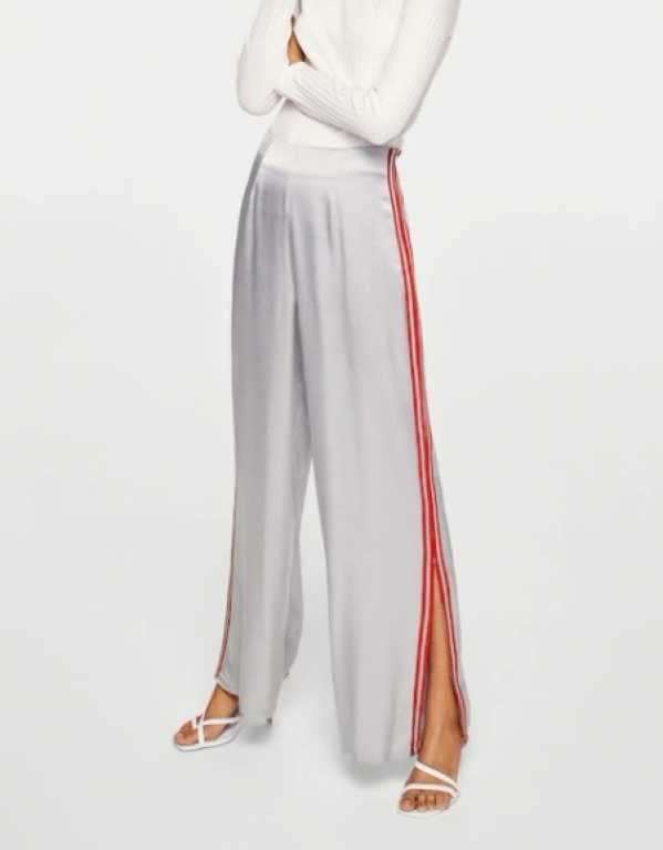 Trim Satin Trousers, Mango, Rs. 5590