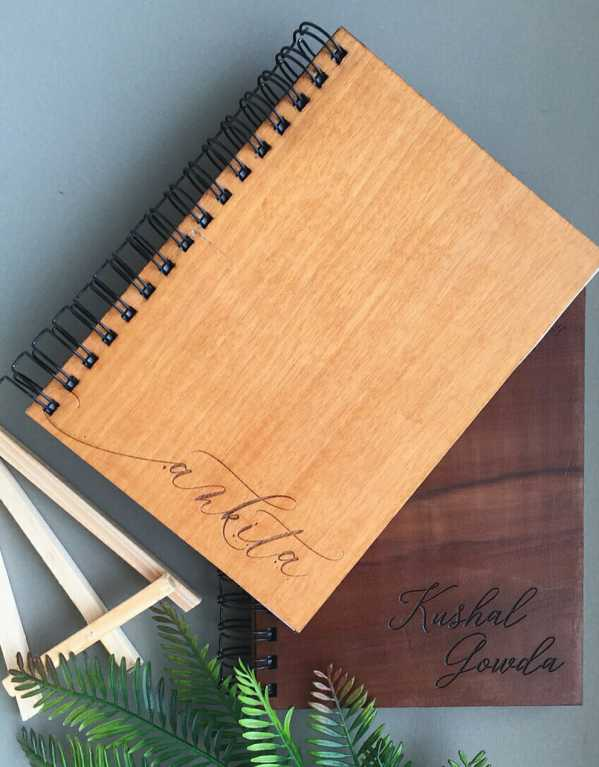 Wooden Diary, Happy Everyday; Price on Request