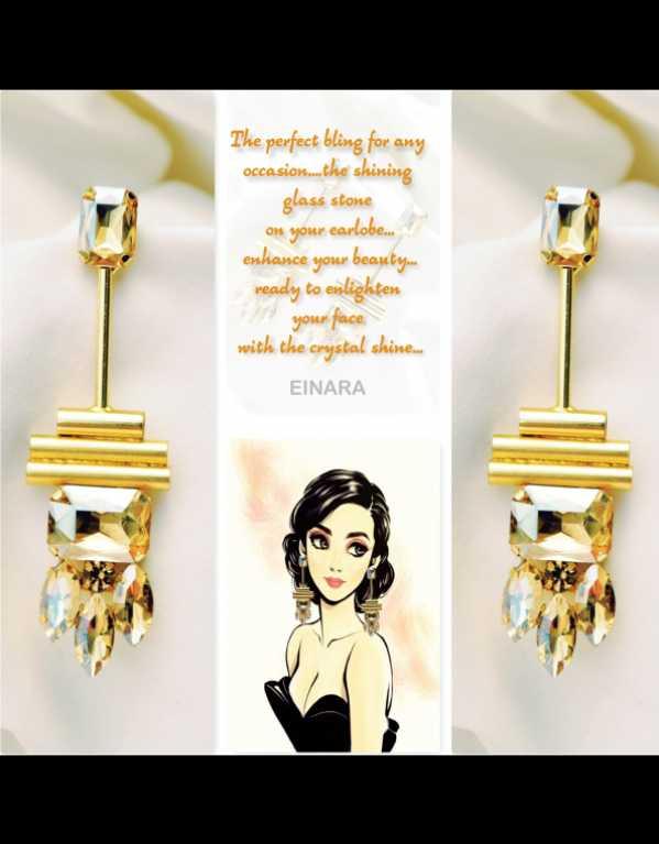 Glass a earrings