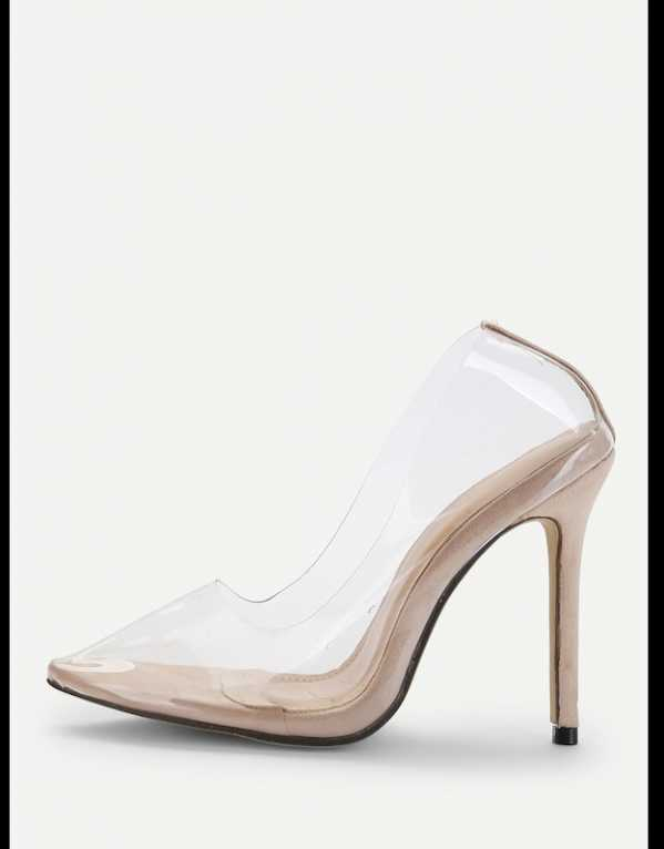 2. The Basic Clear Pointy Stilettos!