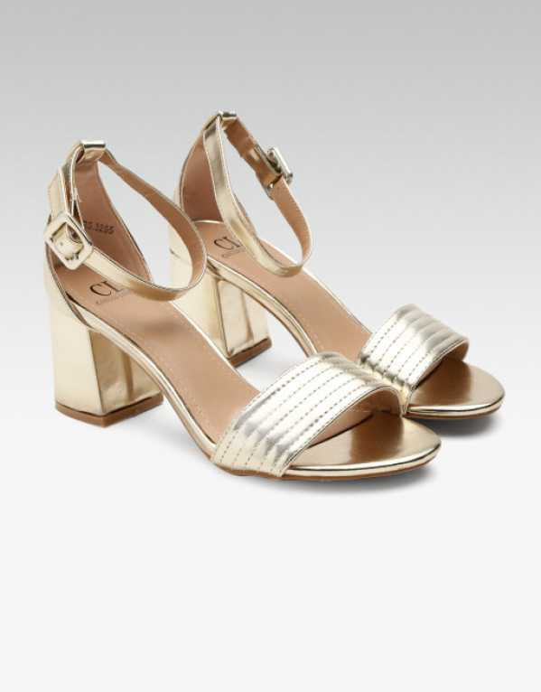 4. Carlton London Gold-Toned Mid-Top Heels