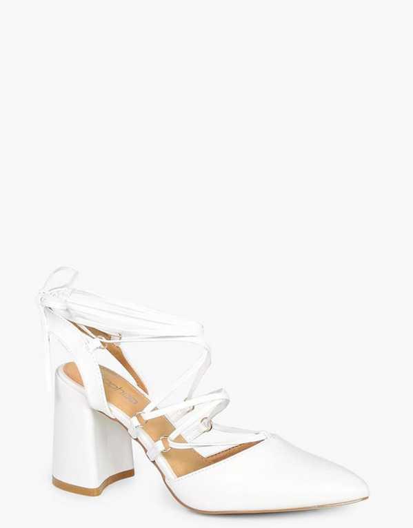 Sarah Wrap Up Slingback Court Shoes, Boohoo, Rs. 907
