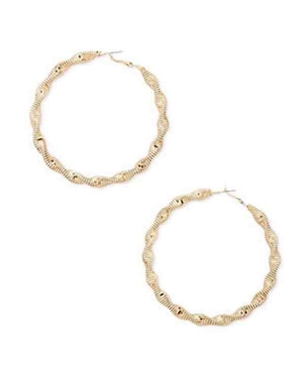 Snake-Chain Hoop Earrings, Forever 21, Rs.499