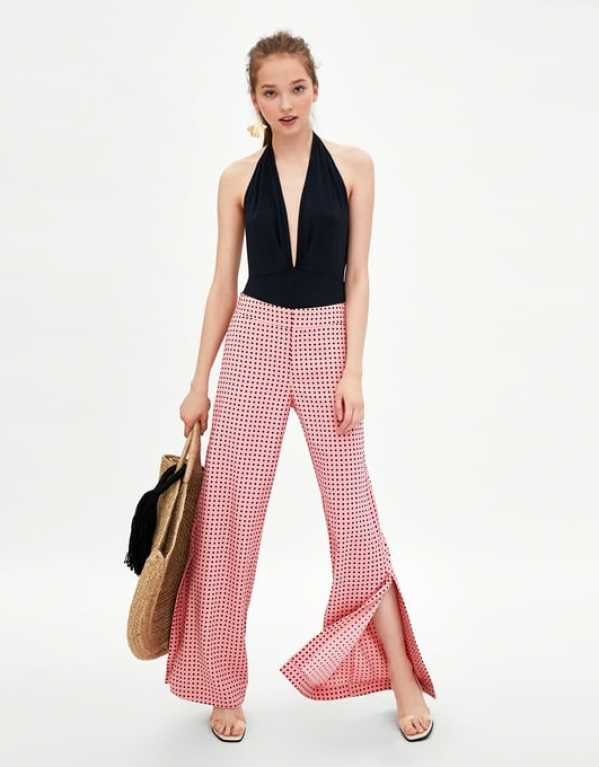 Long Flowing Polka Dot Trousers, Zara, Rs. 2590