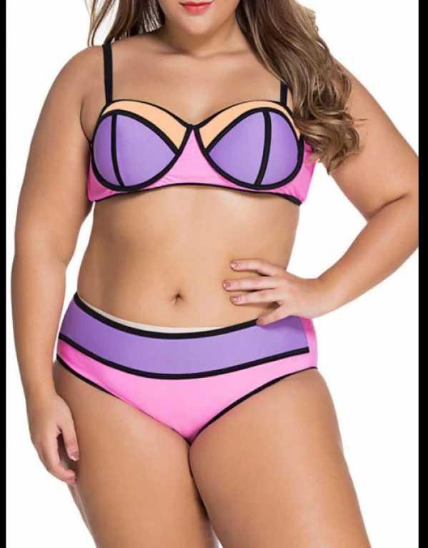 5) Colour Blocked/Spaghetti Top Bikini