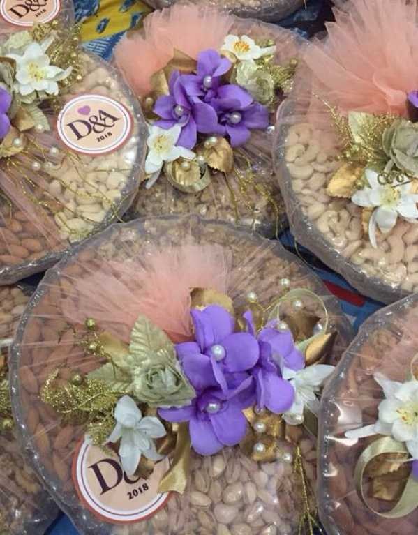4) Dry Fruit Baskets with Customized Logos