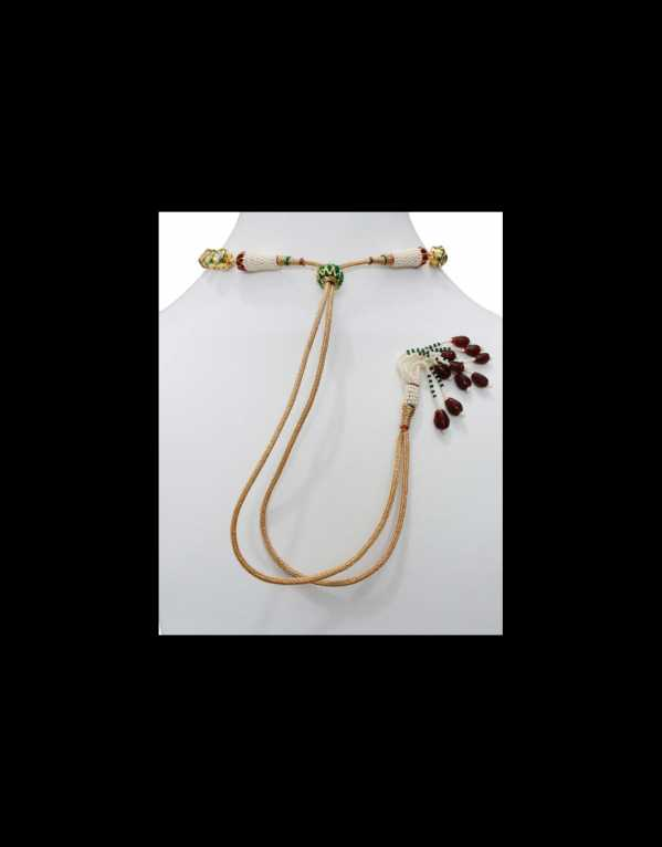 Kundan Necklace High Quality Ruby Onyx String With Pandent S