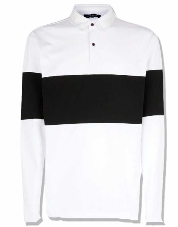 White Block Stripe Rugby Top, New Look; Rs. 1,655