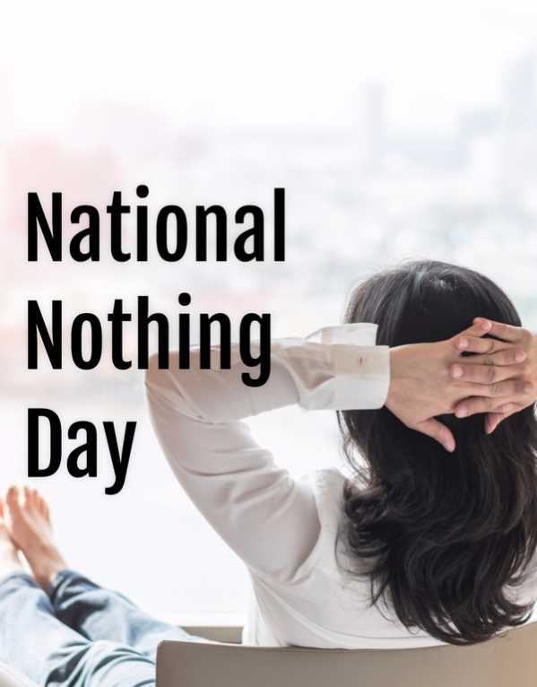 Things To Do On National Nothing Day