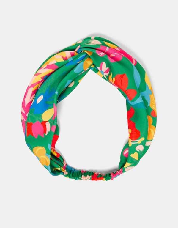 Tropical Flower Turban Head Band, Zara; Rs.799