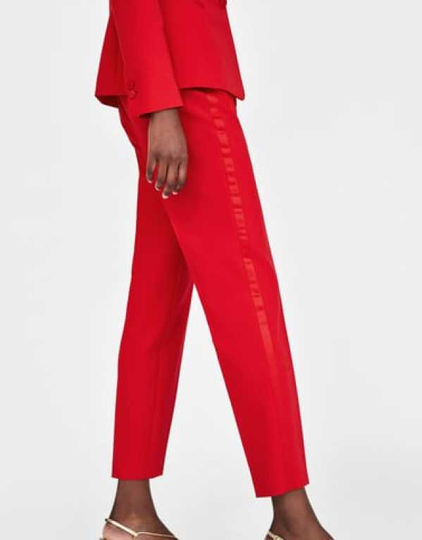 Tuxedo Trousers with Side Trim Detail, Zara, Rs. 2490