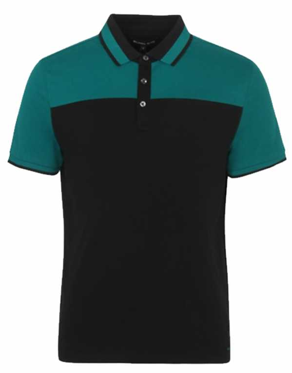 Green Colour Block Polo, Michael Kors; Rs.11,000