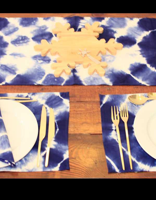 Shibori Table Linen Set
