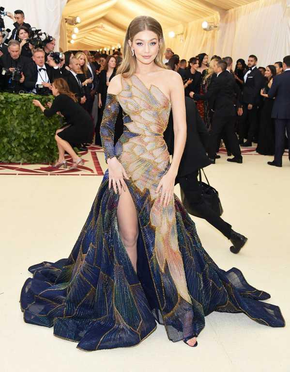 Gigi Hadid Wearing Versace