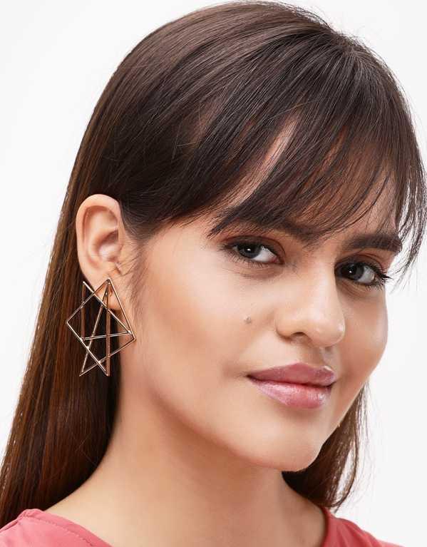 2. Geometric Statement Earrings