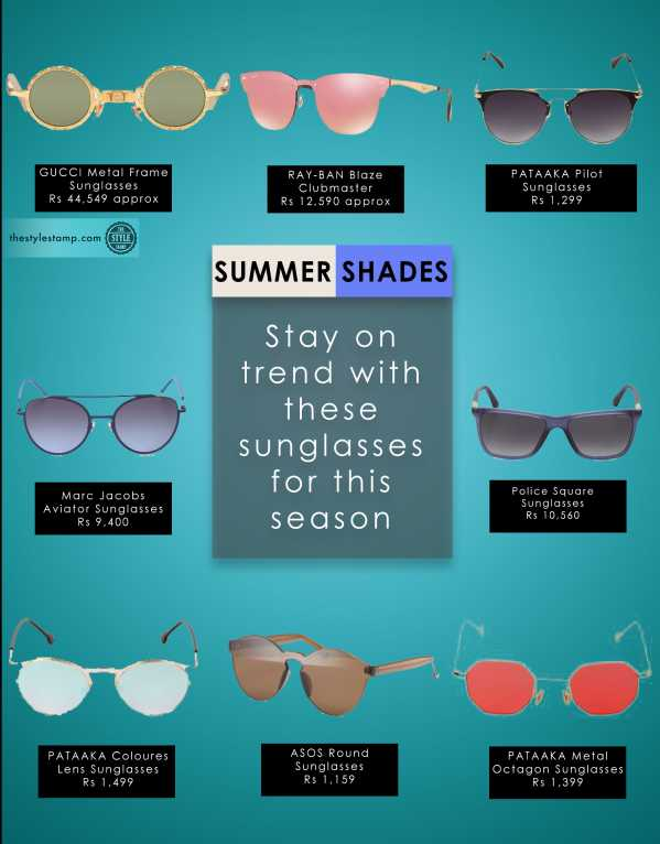Keep the sun away in the most stylish way this summer!
