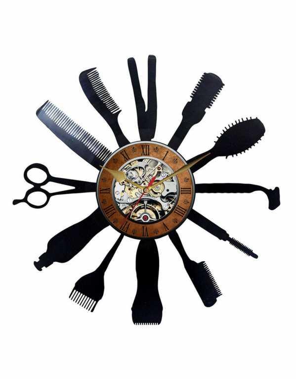 Barber Hair Saloon Vinyl Clock, Engrave, Rs.1300