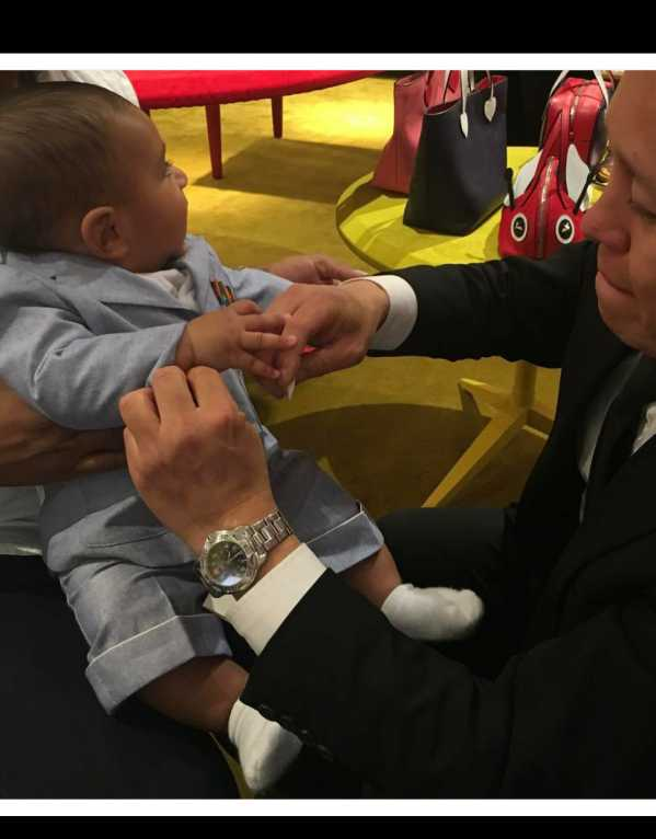 Getting his fittings done for his Gucci suit to wear to the Nickelodeon Awards