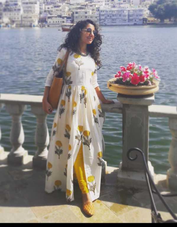 Marigold cape dress