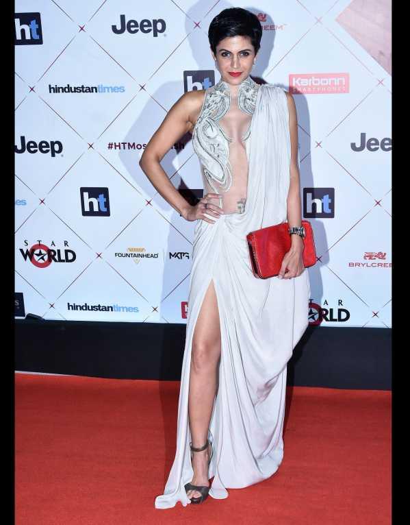 Mandira Bedi wearing a Gaurav Gupta outfit