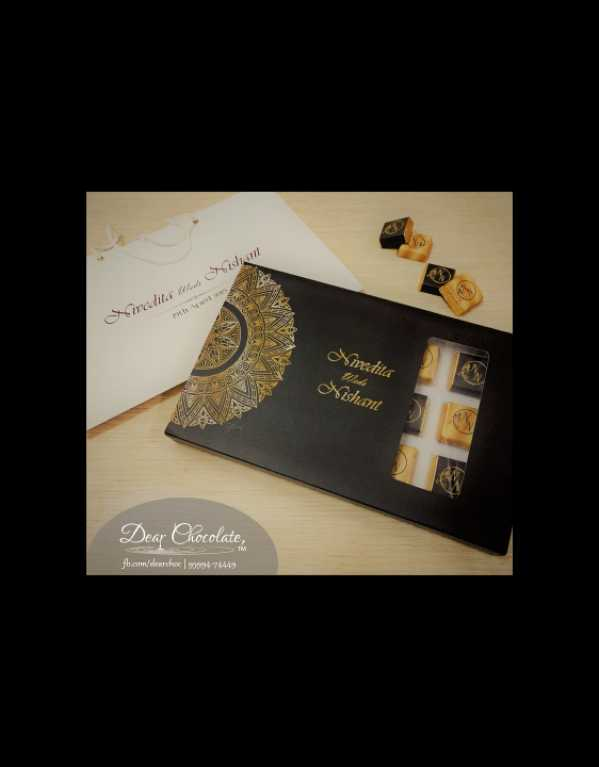 Customized Chocolate Creations for Wedding Gifting