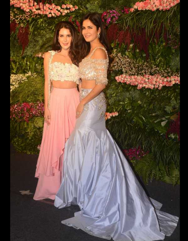 Katrina Kaif and her sister Isabelle both wore lehengas from Manish Malhotra
