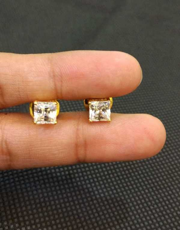 Princess solitaire studs