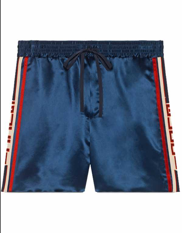 Acetate Shorts With Stripes, Gucci, Rs. 55,449