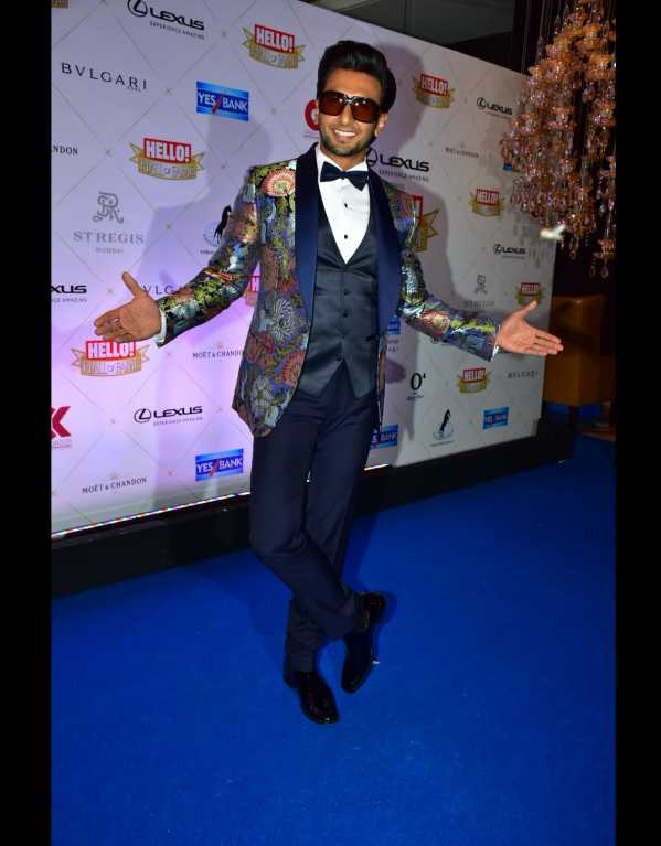 Ranveer Singh being his cool AF self in a Rohit Gandhi + Rahul Khanna suit and Christian Louboutin shoes
