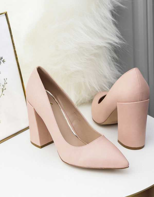 2. All about you from Deepika Padukone Women Nude-Coloured Solid Pumps